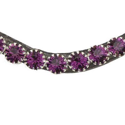 Purple bling swarovski browband