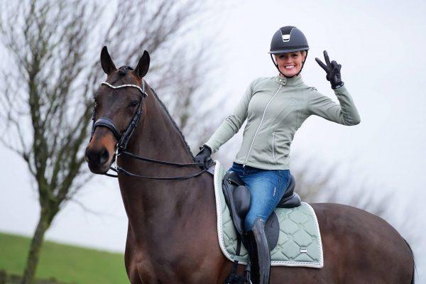 PS of sweden sage green saddle pad
