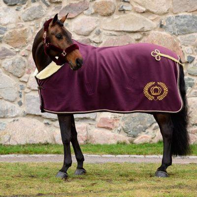 Wine fleece blanket ps of sweden burgundy red ss20