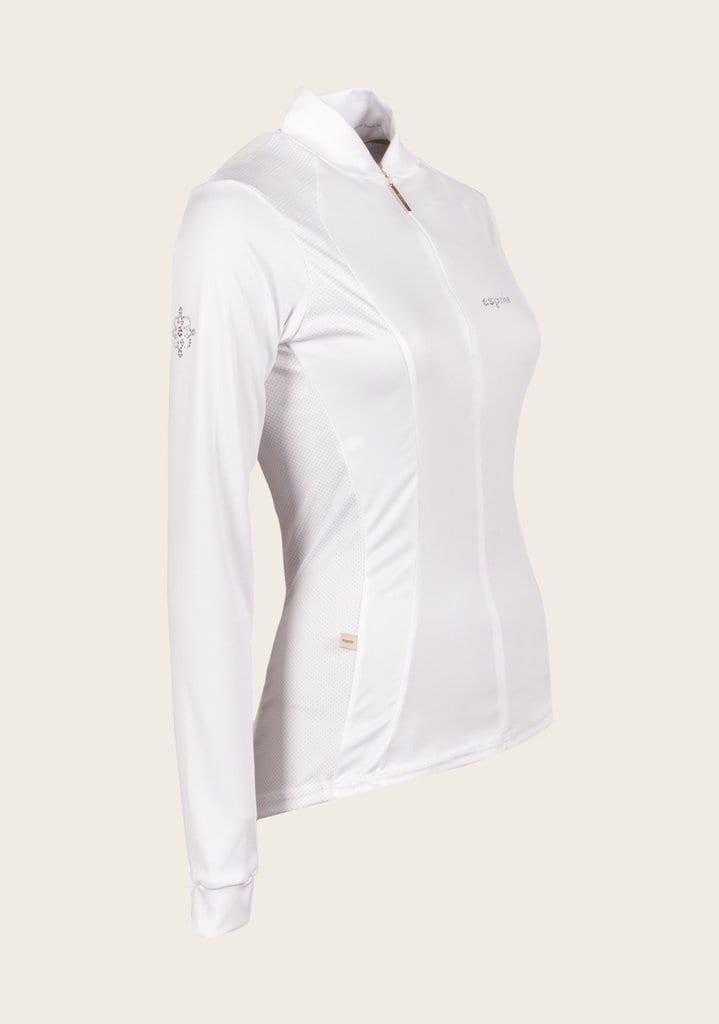 white UV shirt equestrian