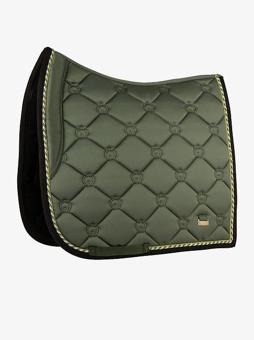 Moss dressage saddle pad green