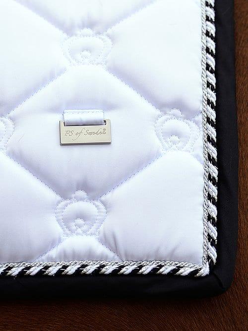 White dressage saddle pads