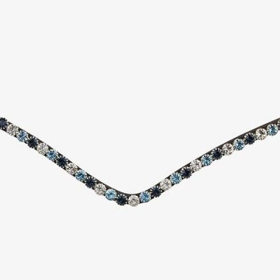 Blue crystal browband