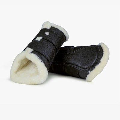 Black dressage boots