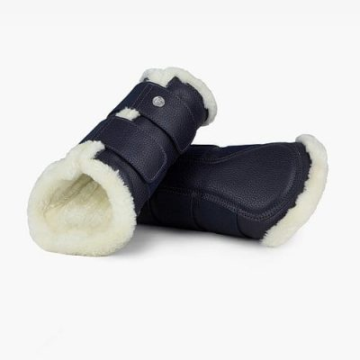 Navy dressage boots