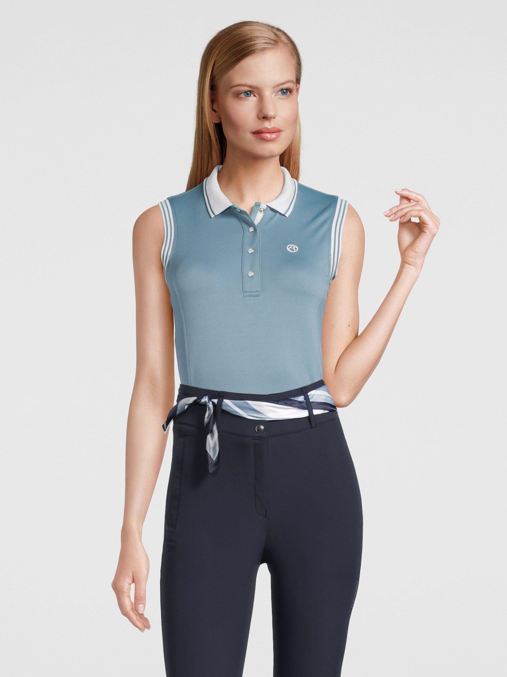 polo shirt sleeveless aqua